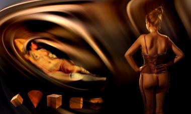 hommage à Courbet corset