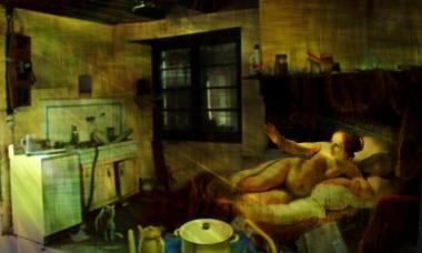 hommage à Rembrandt nu couché