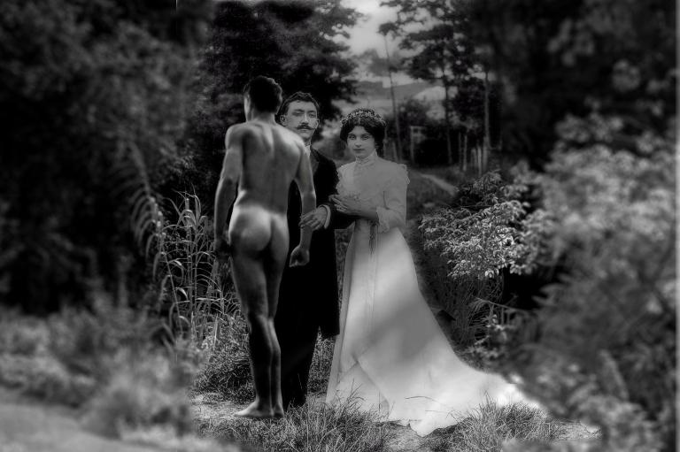 mariés herbe nu 2